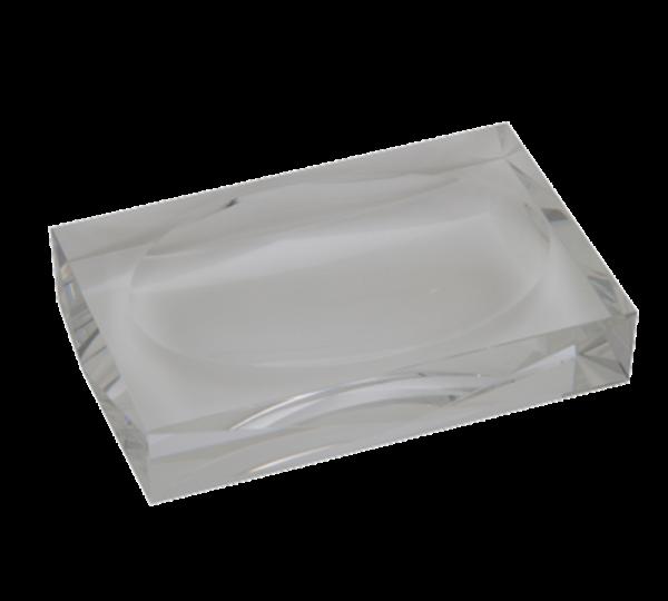 Saboneteira retangular cristal